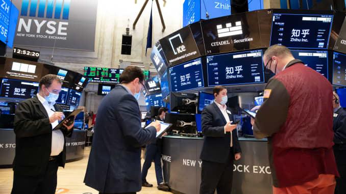 b stock price